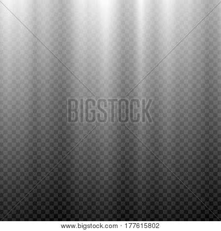 White glowing light. Aurora Borealis polar effect. Transparent graphic design element for flyers, posters, book covers, cards and invitations. Abstract glowing background. Vector illustration.