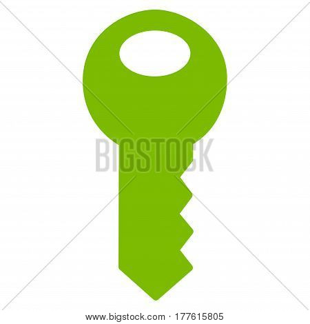 Key vector icon. Flat eco green symbol. Pictogram is isolated on a white background. Designed for web and software interfaces.