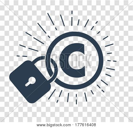 Silhouette Icon Of Protection Of Copyright