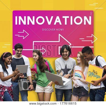 Innovation Modern Technology Development Word