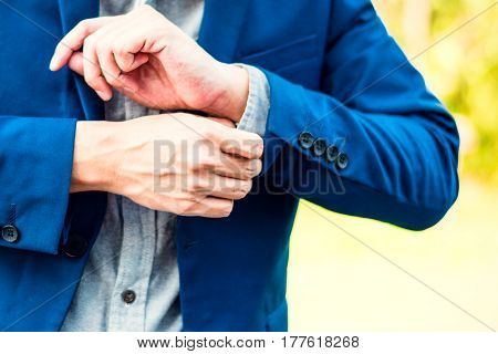 Business Successful Concept : Executive Business Man Wear Male Formal Suit Serious Thinking Professi