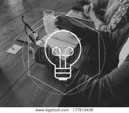 Light Bulb Ideas Creative Icon Vector