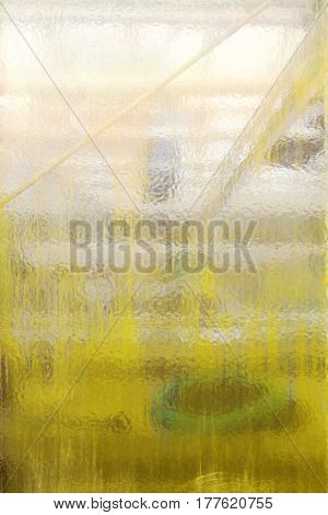 Old Grungy Structural Glass Pane For Backgrounds