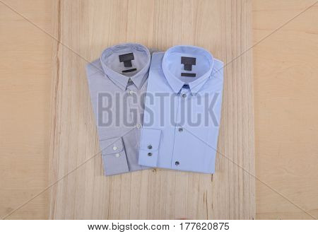 Business classic men's shirts-wooden background