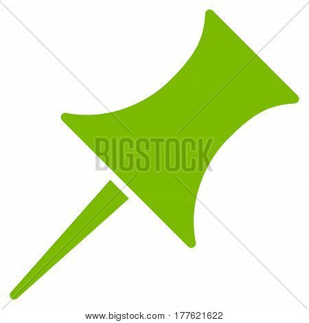 Pin vector icon. Flat eco green symbol. Pictogram is isolated on a white background. Designed for web and software interfaces.