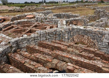 Roman ruins of the ancient city of Conimbriga Beiras region Portugal