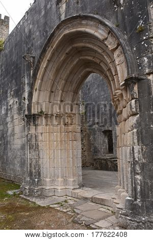 Remains Of The Walled Castle Of Leiria, Beiras Region, Portugal