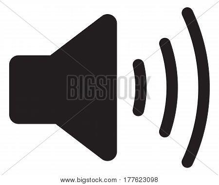 Volume max. Speaker icon noise computer icon sound recording