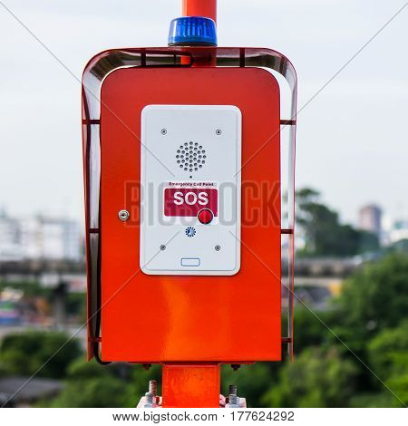 Emergency call box on express way in Thailand