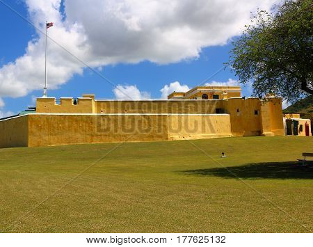 Fort Christiansted in St. Croix in the US Virgin Islands
