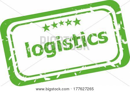 Logistics Grunge Rubber Stamp Isolated On White Background