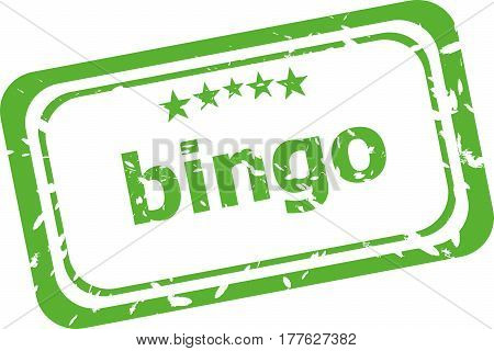 Bingo Grunge Rubber Stamp Isolated On White Background
