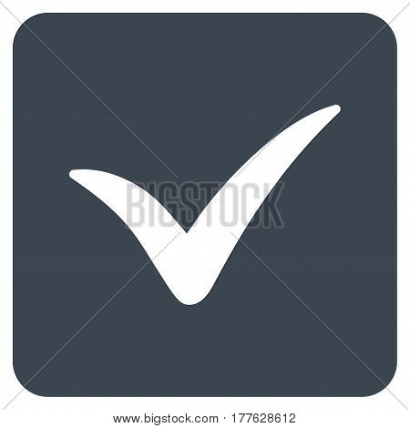 Approve Box vector icon. Flat smooth blue symbol. Pictogram is isolated on a white background. Designed for web and software interfaces.
