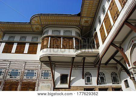 Courtyard in the haremTopkapi Palace Istanbul Turkey.