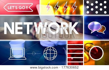 Internet Network Web Technology Concept