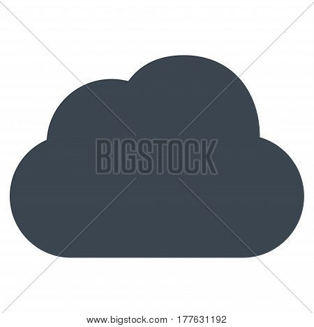 Cloud vector icon. Flat smooth blue symbol. Pictogram is isolated on a white background. Designed for web and software interfaces.