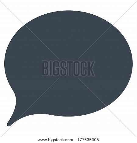 Hint Balloon vector icon. Flat smooth blue symbol. Pictogram is isolated on a white background. Designed for web and software interfaces.