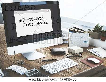 Document Retrieval Paper Forms Contract Window Popup