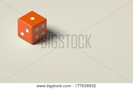 3D RENDERING OF DICE ISOLATED ON PLAIN BACKGROUND