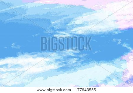 Abstract white blue background with pink stains