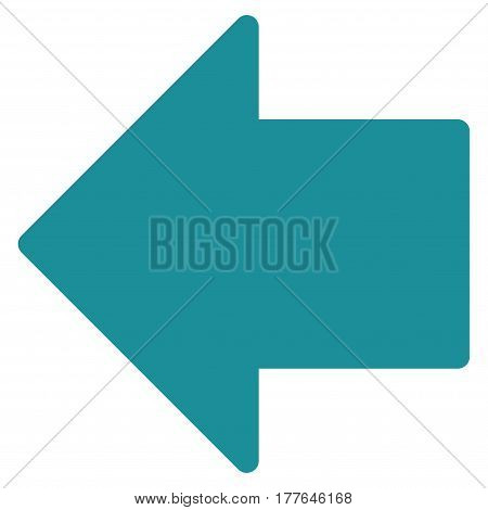 Arrow Left vector icon. Flat soft blue symbol. Pictogram is isolated on a white background. Designed for web and software interfaces.