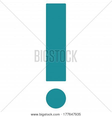 Exclamation Sign vector icon. Flat soft blue symbol. Pictogram is isolated on a white background. Designed for web and software interfaces.