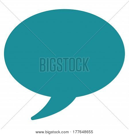 Message Balloon vector icon. Flat soft blue symbol. Pictogram is isolated on a white background. Designed for web and software interfaces.