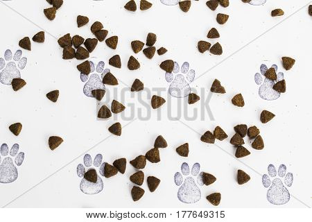 Animal Crackers/Biscuits on a paw rpint background