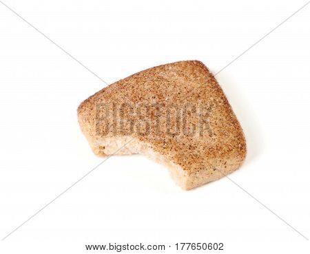 The cookie Bite on a white background