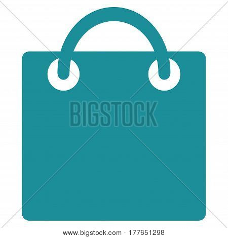 Shopping Bag vector icon. Flat soft blue symbol. Pictogram is isolated on a white background. Designed for web and software interfaces.