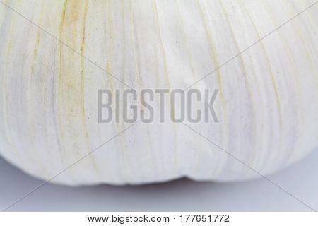 A extreme close up of garlic skin