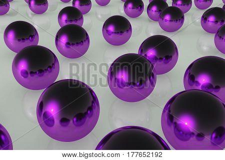 Ball Reflection Purple