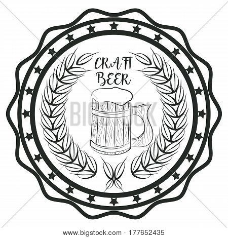 Craft beer concept sticker for pub or cafe concept logo