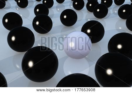 Ball Black And White For Skin Care Concept