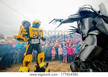 Russia. Moscow region. Balashikha - September 18, 2016. Show of transformers for children