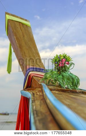 Traditional long tail boat  Krabi Thailand
