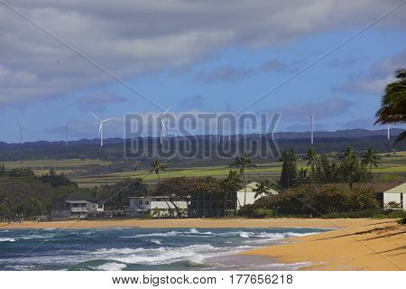 Stock image of Hawaii's North Shore Beach