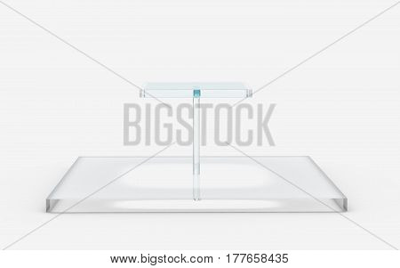 Square Of Glass Tiers Stand