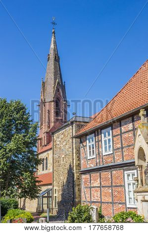 St. Marien Church And Old House In Quakenbruck