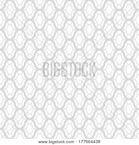 Seamless ornamental pattern. White and gray texture.