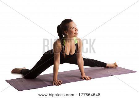 Girl Stretch Yoga Pilates Isolated