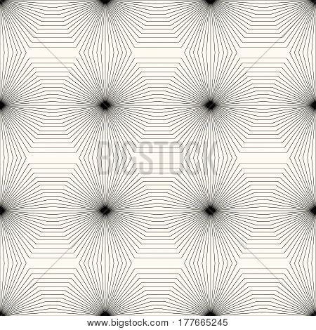 Geometric monochrome seamless pattern. Vector background for your design.