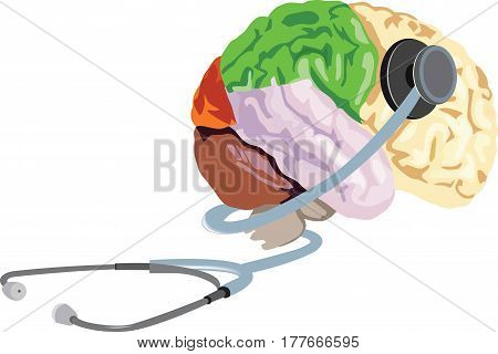 healthy brain mind stethoscope healthy brain mind stethoscope