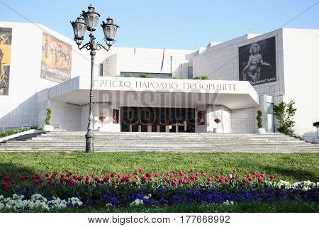 Novi Sad, Serbia: march 1. 2017 - The Serbian National Theatre located in Novi Sad, is one of the major theatres of Serbia