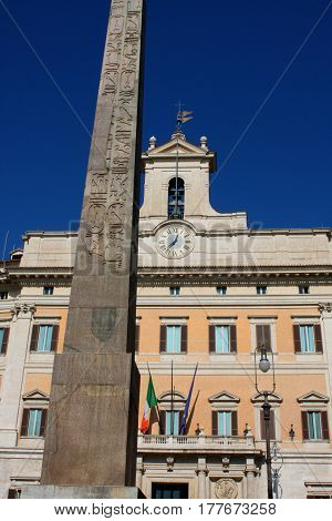 Palazzo Montecitorio is a palace in Rome and the seat of the Italian Chamber of Deputies.
