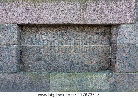 background of old stone texture and niche or deepening