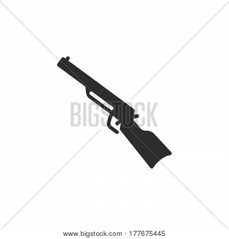 Shotgun carbine icon vector filled flat sign solid pictogram isolated on white. Symbol logo illustration