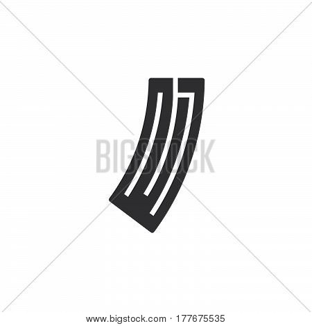 Ammunition magazine icon vector filled flat sign solid pictogram isolated on white. Symbol logo illustration