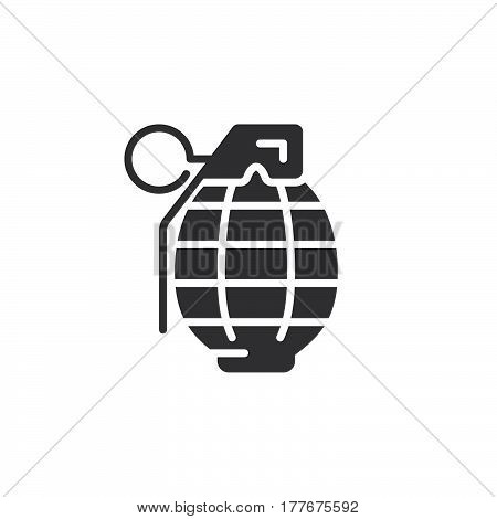Fragmentation grenade icon vector filled flat sign solid pictogram isolated on white. Symbol logo illustration