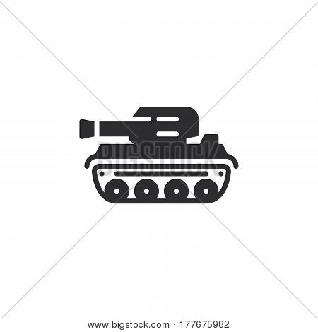 Tank icon vector filled flat sign solid pictogram isolated on white. Symbol logo illustration